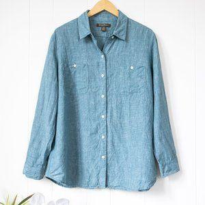 Tommy Bahama Linen Long Sleeve Button Down Shirt L
